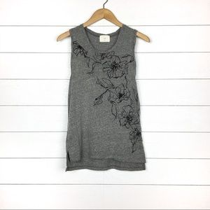 T.La Gray Floral Sleeveless Top Rosie Printed Tank